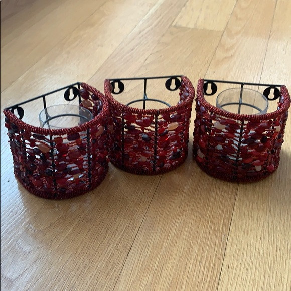 Pottery Barn wall or table candleholders